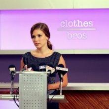 Brooke (Sophia Bush) tiene un discorso nell'episodio Nobody Taught Us to Quit di One Tree Hill