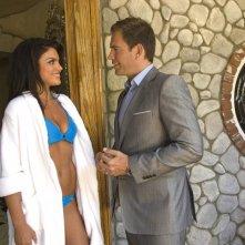 Michael Weatherly interroga Nadia Bjorlin nell'episodio Dead Air di NCIS - Unità anticrimine