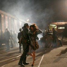Alessandra Mastronardi in una scena drammatica della miniserie Sotto il cielo di Roma