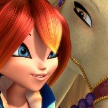 Bloom col suo cavallo nel film Winx Club 3D