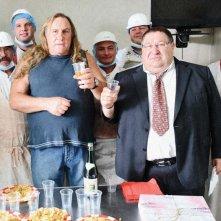 Gérard Depardieu in una sequenza del film Mammuth
