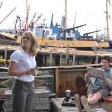 Eric Balfour ed Emily Rose nell'episodio Welcome to Haven della serie Haven