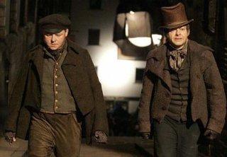 Andy Serkis e Simon Pegg in una delle prime immagini del film Burke and Hare