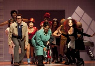 Il cast di Glee al completo nell'episodio The Rocky Horror Glee Show di Glee