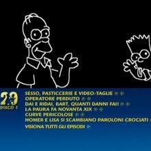Una schermata del menu del primo disco del cofanetto de I Simpson - Stagione 20