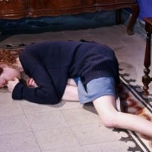 Alba Rohrwacher in un momento drammatico del film In carne e ossa