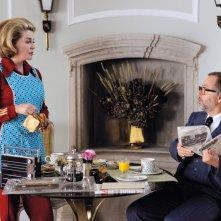 Catherine Deneuve con Fabrice Luchini  nel film Potiche