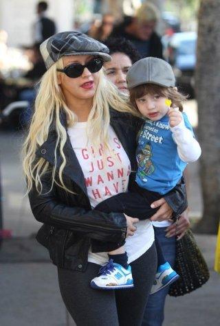 Christina Aguilera con Max a fare shopping nella boutique La La Ling a Los Feliz
