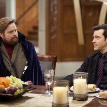 Zach Galifianakis e Paul Rudd nel film A cena con un cretino