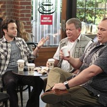 Jonathan Sadowski Will Sasso e William Shatner in $#*! My Dad Says nell'episodio Easy, Writer