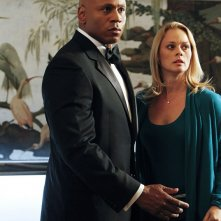LL Cool J protegge Kate Levering nell'episodio Anonymous di NCIS: Los Angeles