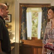 Lois (Erica Durance) parla col padre (Michael Ironside) nell'episodio Ambush di Smallville