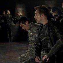 Lou Diamond Phillips e Mike Dopud nell'episodio Aftermath di Stargate Universe