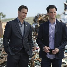 Gary Sinise e Eddie Cahill in CSI: New York nell'episodio Do Not Pass Go