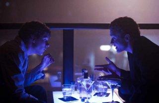 Justin Timberlake e Jesse Eisenberg in una scena del filmThe Social Network