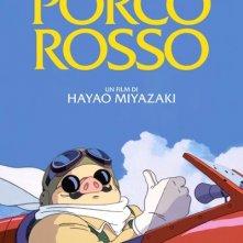 Locandina italiana del film d'animazione Porco Rosso (1992)