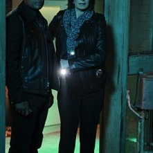 Sela Ward e Hill Harper in CSI: New York, nell'episodio Scared Stiff