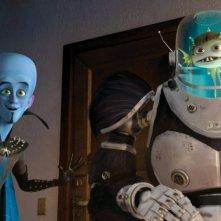 Titan e Megamind in un momento del film Megamind