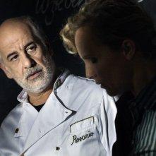 Toni Servillo con Juliane Kohler in una scena del film Una vita tranquilla