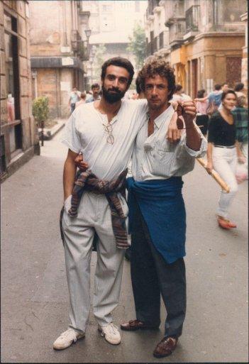 Francesco Nuti con il fratello Giovanni