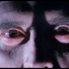 Lo sguardo di Fabrizio Jovine in una scena del film Paura nella città dei morti viventi