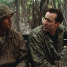 Nicolas Cage e Adam Beach in una scena del film Windtalkers