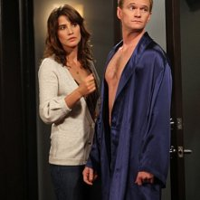 Cobie Smulders e Neil Patrick Harris nell'episodio Baby Talk di How I Met Your Mother
