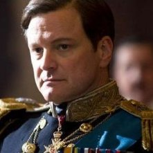 Colin Firth in una scena del film The King's Speech
