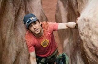 James Franco in una sequenza del film 127 Hours