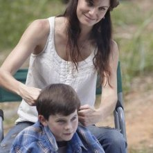 Sarah Wayne Callies e Chandler Riggs nell'episodio Bentornato papà di The Walking Dead