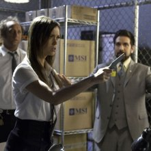 Scott Krinsky, Joshua Gomez e una minacciosa Summer Glau nell'episodio Chuck Versus The Fear of Death