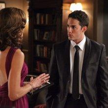 Tyler (Michael Trevino) e la madre Carol (Susan Walters) nell'episodio Masquerade di Vampire Diaries