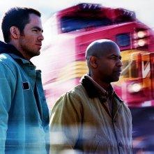 Denzel Washington e Chris Pine nell'action movie Unstoppable