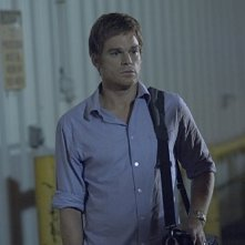 Michael C. Hall in una scena dell'episodio Everything is Illumenated della quinta stagione di Dexter