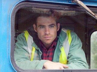 Un'immagine di Chris Pine dal film Unstoppable