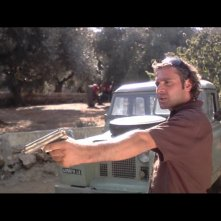 Massimo Fersini in una sequenza del film Totem Blue