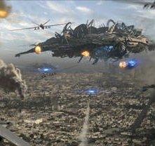 Una suggestiva sequenza del film Skyline