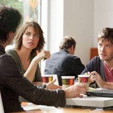 Ian Somerhalder (di spalle), Lauren Cohan e Trevor Peterson nell'episodio Katerina di Vampire Diaries