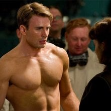Chris Evans in una scena del film Captain America: il primo vendicatore