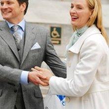 Colin Firth ed Uma Thurman in una scena della commedia The Accidental Husband
