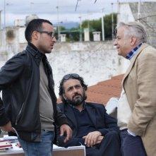 Gli sceneggiatori Eugenio Cappuccio e Antonio Avati sul set del film Se sei così, ti dico di sì