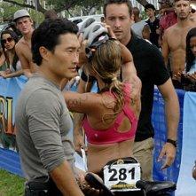 Daniel Dae Kim e Alex O'Loughlin in Hawaii Five-0 nell'episodio Hao Kanaka