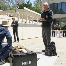 David McCallum, Sean Murray e Mark Harmon in Broken Arrow di NCIS: Unità anticrimine