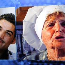 Grande Fratello 11: Nando Colelli e sua nonna durante una puntata del reality