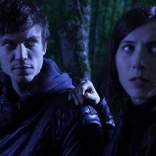 Cyrille Thouvenin e Bárbara Goenaga nel film Le village des ombres
