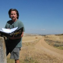 Emilio Estevez sul set del film The Way di cui è regista e interprete