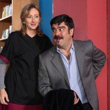 Lunetta Savino e Francesco Pannofino in un'immagine di Due mamme di troppo
