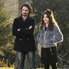 Marco Cocci con Sabrina Impacciatore nella miniserie Due mamme di troppo