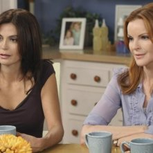 Teri Hatcher e Marcia Cross in una scena dell'episodio Remember Paul? di Desperate Housewives