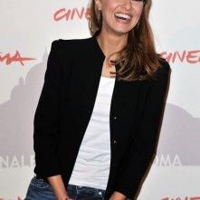 Una sorridente Paola Cortellesi al Festival di Roma 2010 per presentare Le cose che restano